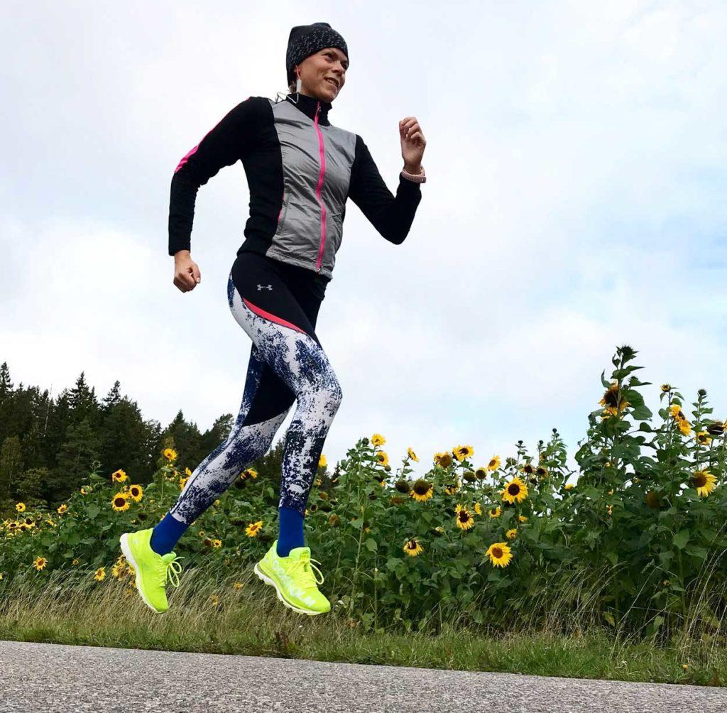 10 km löpning i lugnt tempo, perfekt som avslutning på denna vecka.