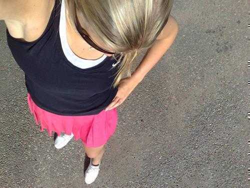 Dagens tennisoutfit - med min nyköpta kjol.