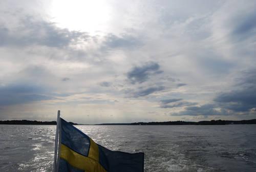 Från båten.