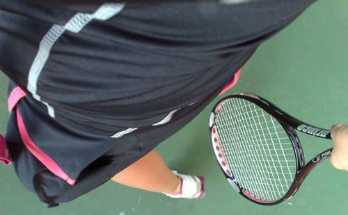 Topp från Craft, kjol från Nike, racket från Prince.