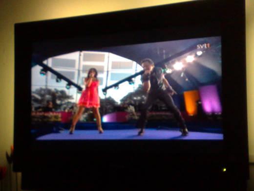 Lena och Orup uppträder på Solliden.