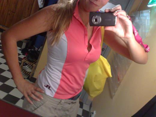 Golfklädd.
