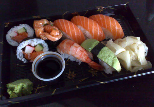 Sushi från Sakura.