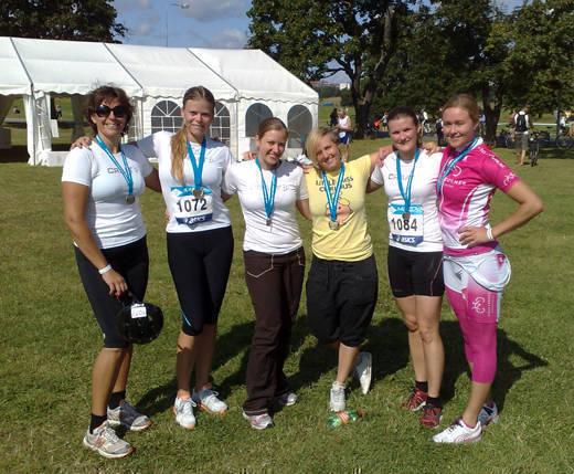 Anna-Carin, jag, Jane, Emma, Sofia och Åsa.