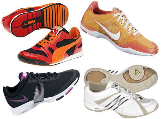 1. Puma Hawaii XT 2. Nike Zoom Sister One+ 3. Nike Zoom Trainer Essential II 4. Adidas Adilibria Workout