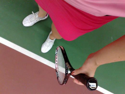 Redo för tennislektion!