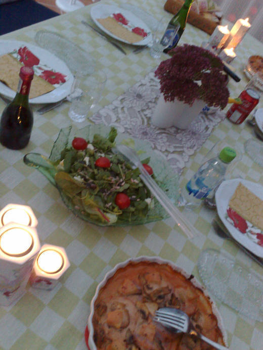 Middag hos mamma och pappa.