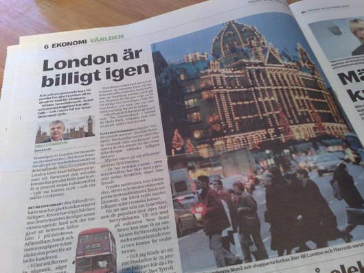 Dagens Nyheter idag.