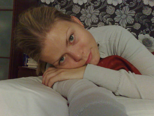 Lite småtrött - men nu är jag uppe.