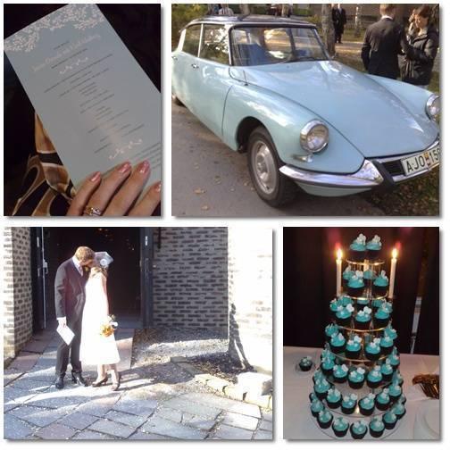 Några bilder från gårdagens fina bröllop.