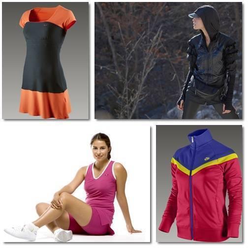 1. Klänning från Nike. 2. Löparkläder Stella McCartney/Adidas. 3. Klänning Möja. 4. Jacka Nike.