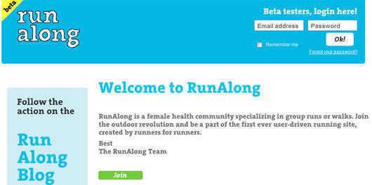 Skärmdump av Runalong.