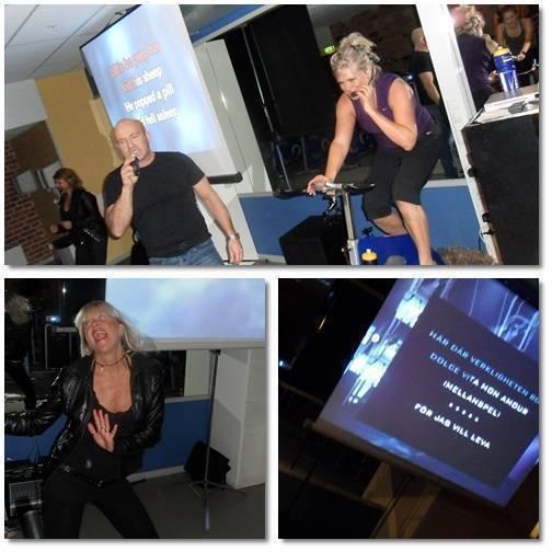 Bilder från karaokecyklingen.