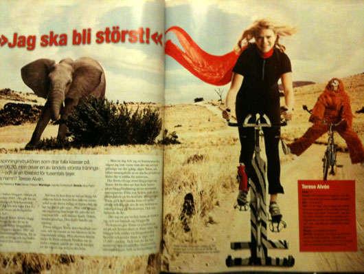 Reportage i Fitness Magazine nr 1, 2010.