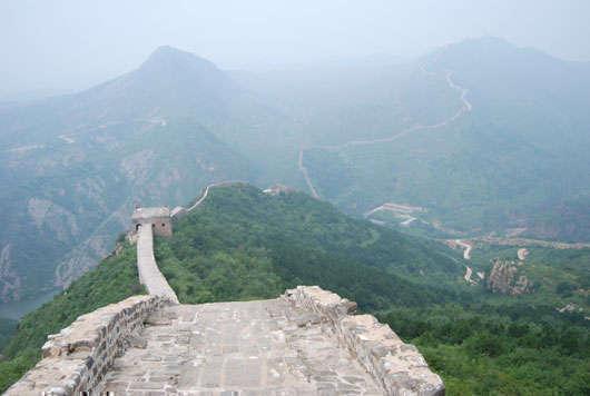 Kinesiska muren sommaren 2009.
