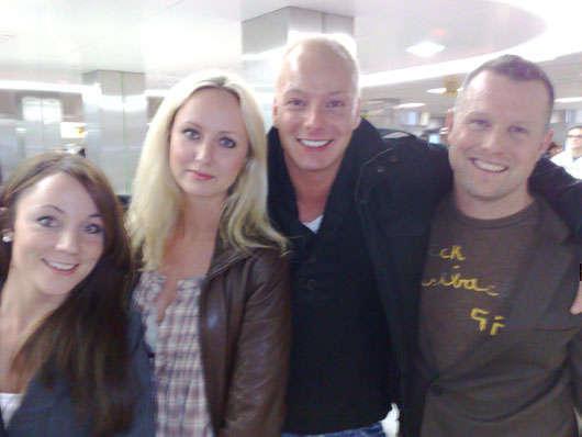 Frida, Kelly, Wille och Jimmy var några av de andra bloggarna på resan.