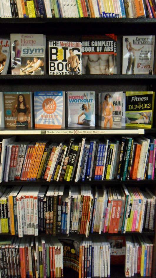 Träningshyllan inne på Barnes & Noble.