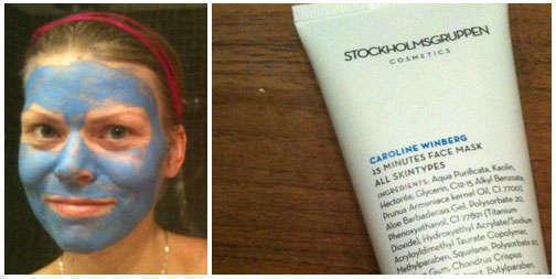 Testade en ansiktsmask från Stockholmsgruppen Caroline Winberg.