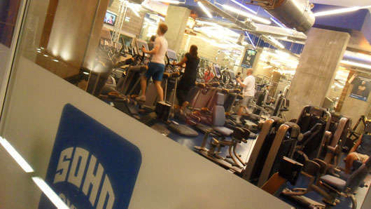 SOHO gym i London där jag tränade i höstas.