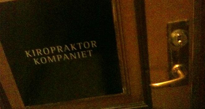 Dörren till mottagningen.