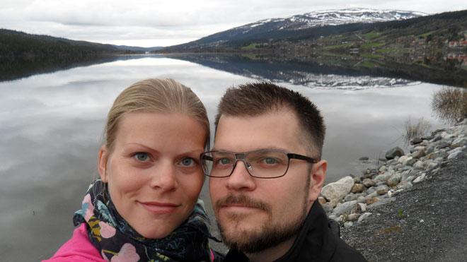 På promenad i Åre.