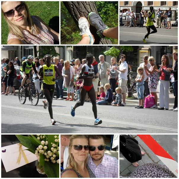 Blandade bilder från min födelsedag och Stockholm Marathon 2010.