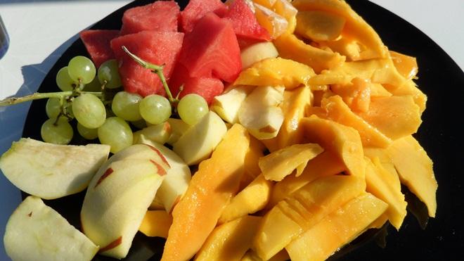 Fruktbuffé.