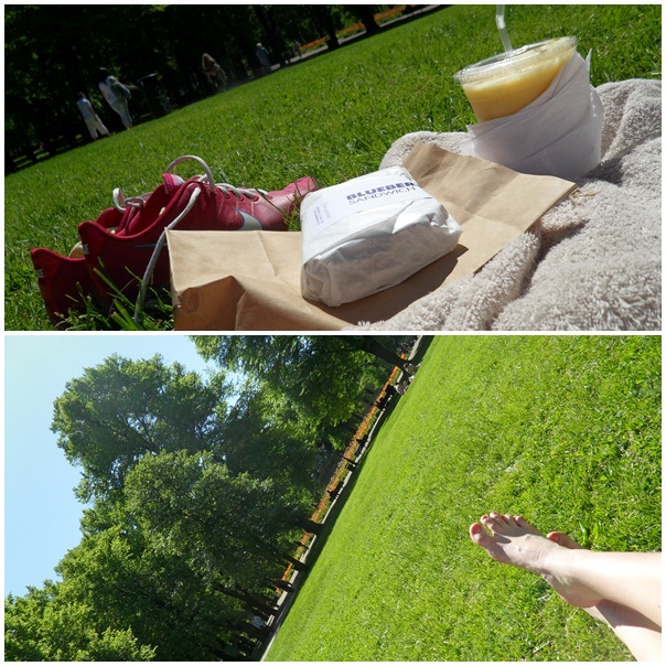 Lunch i Humlegården.