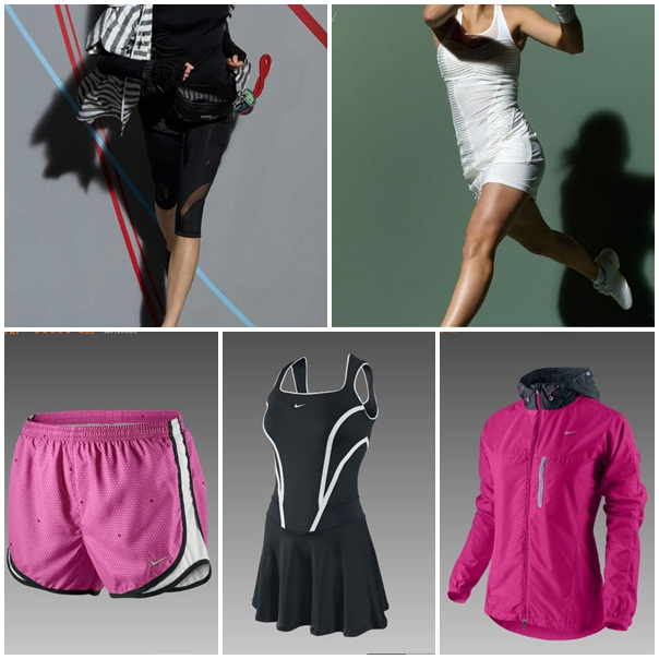 Adidas by Stella McCartney (övre raden), Nike (nedre raden)