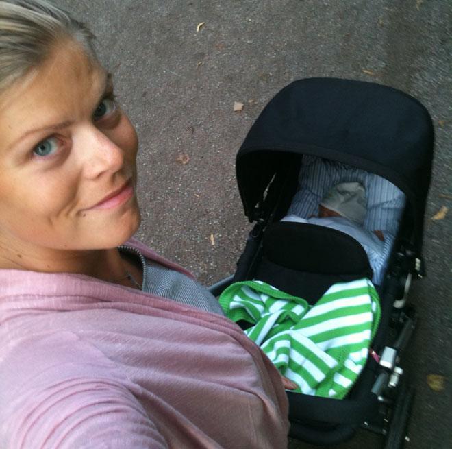 Nu är det barnvagnspromenader som gäller för mig.