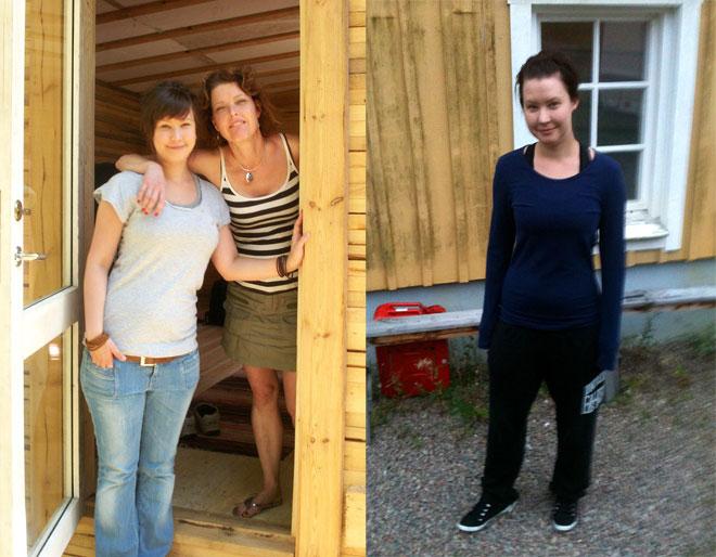 Mikaela före och efter.