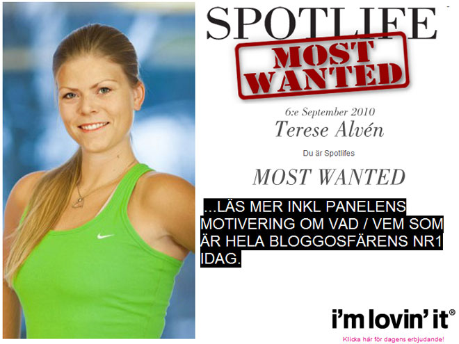 """Dagens """"Most Wanted""""."""