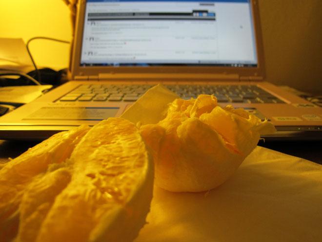 Apelsin - som godast runt december.