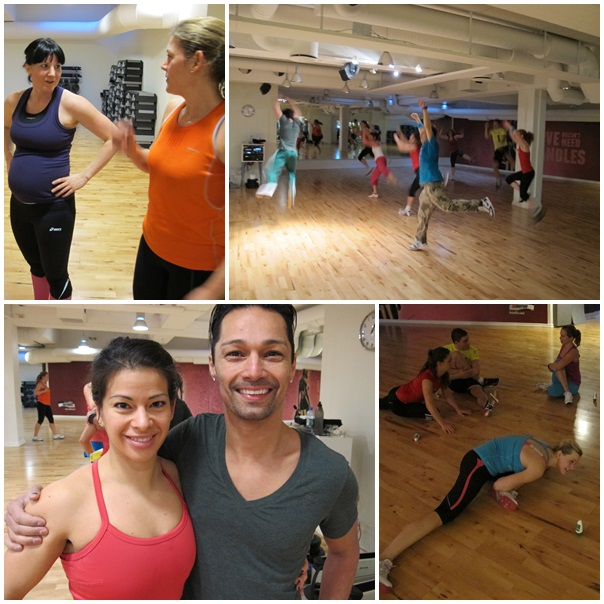 Andrea, Mia, dans, stretch och Sandra och Omid.