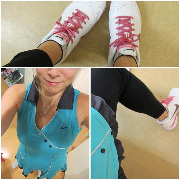 Nya tenniskläder och skor.