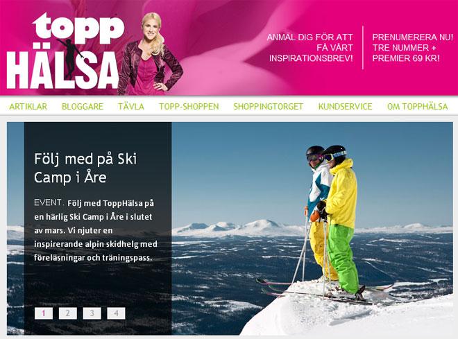 Skärmdump ToppHälsa.