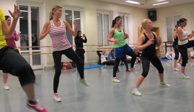 Under träningspasset. Tack Åsa (ehrnholm.se) för att du hjälpte mig att fota när jag tränade.