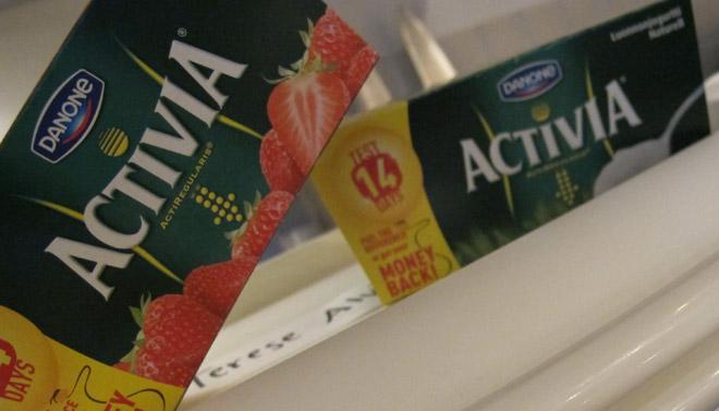 Activia yoghurt.
