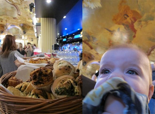 Goda matmuffins och Charles (som fyller sex månader idag!).