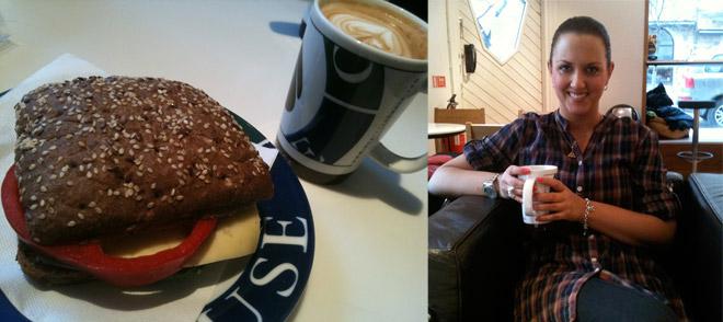 Frukostdejt med Camilla på Espresso House.