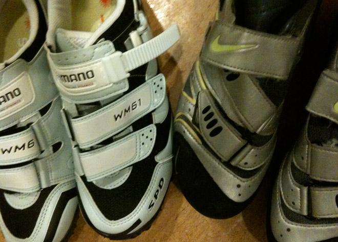 Nya och gamla skor.