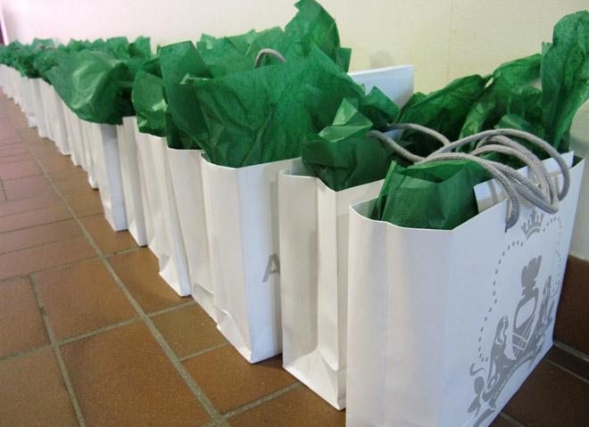 Även idag fick deltagarna en goodiebag, denna gång med skönt innehåll från Apoteket.
