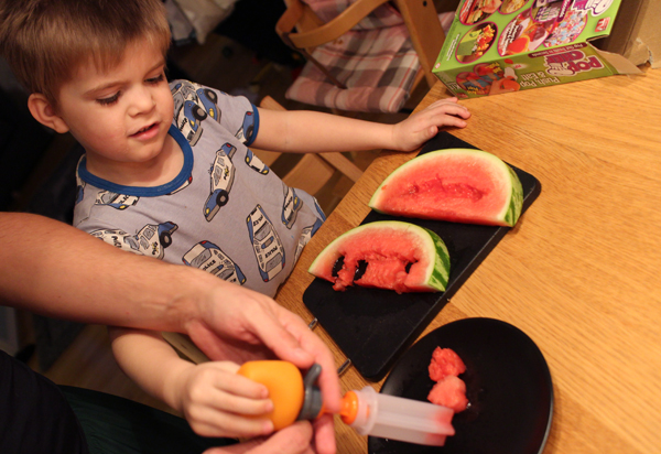 Popchef barn och frukt