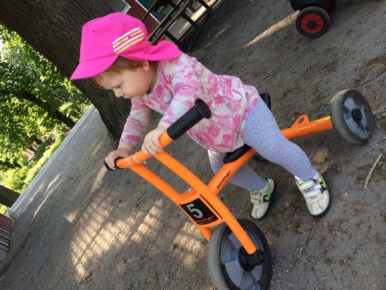 Cykla i parken