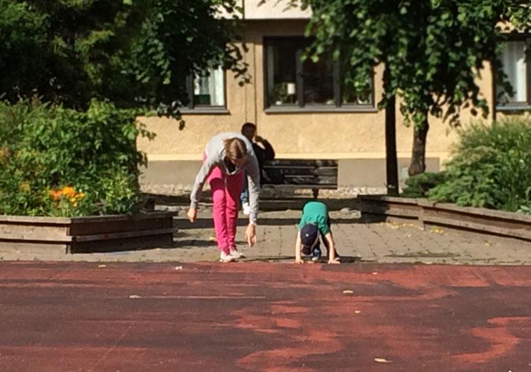 Springa med barn