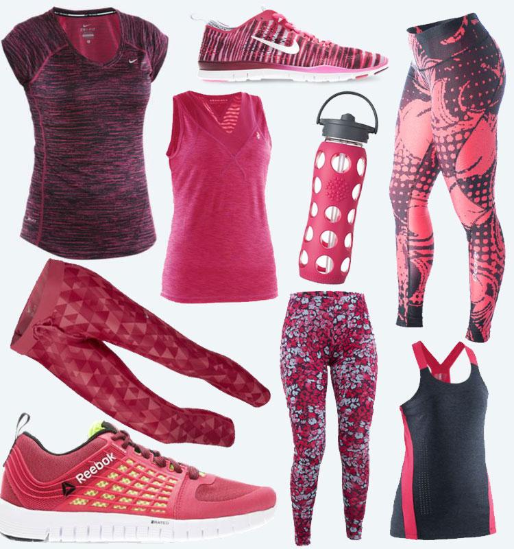 Röda träningkläder