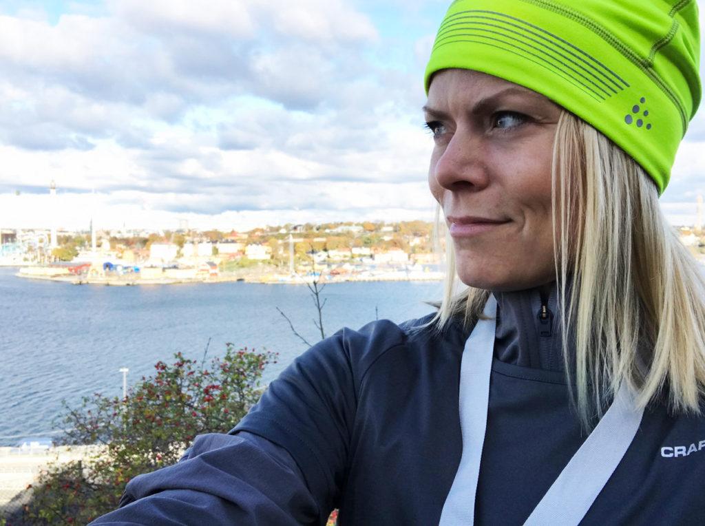Vacker utsikt över Stockholm efter målgång på Fåfängan.