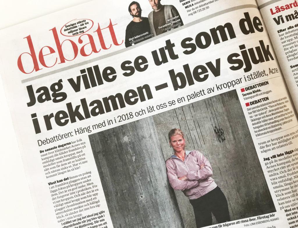 Debattartikel i Aftonbladet 20 januari 2018.