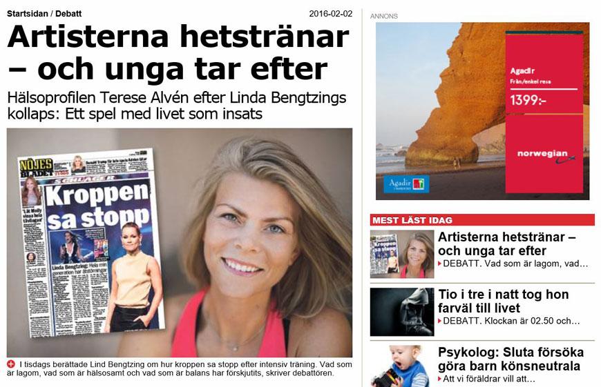 aftonbladet debatt hetsträning inför melodifestivalen