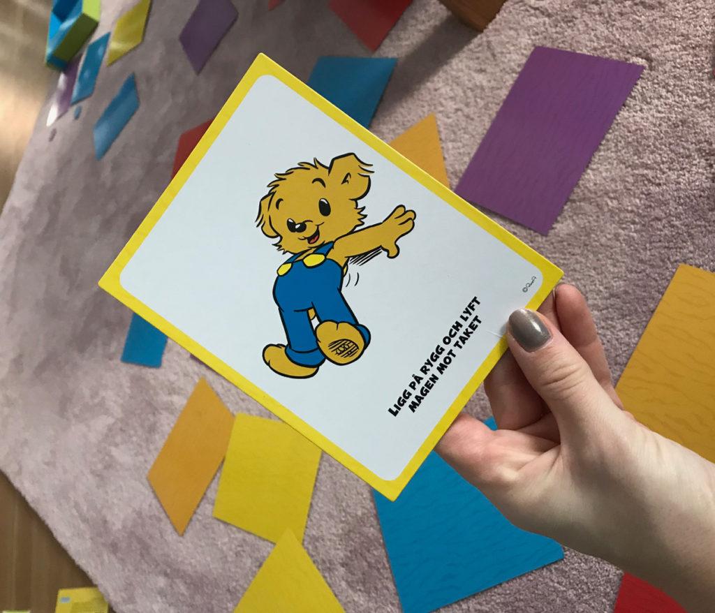 Bamses gympaspel - roligt för både små barn och deras föräldrar.